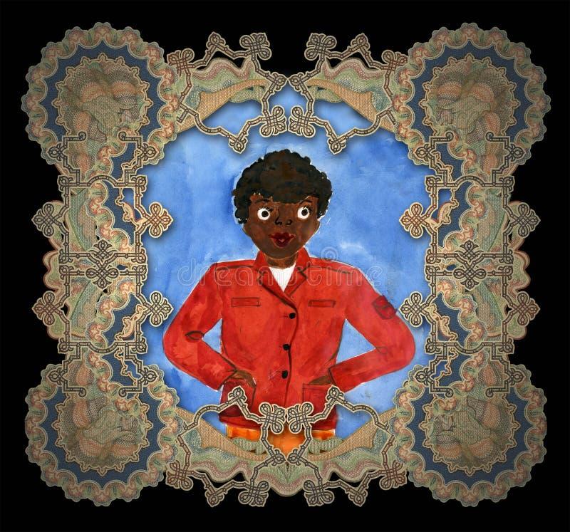黑色男孩儿童图画s 皇族释放例证