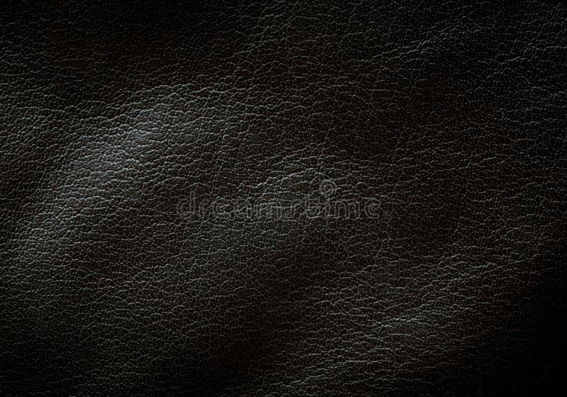 黑色皮革纹理 库存图片