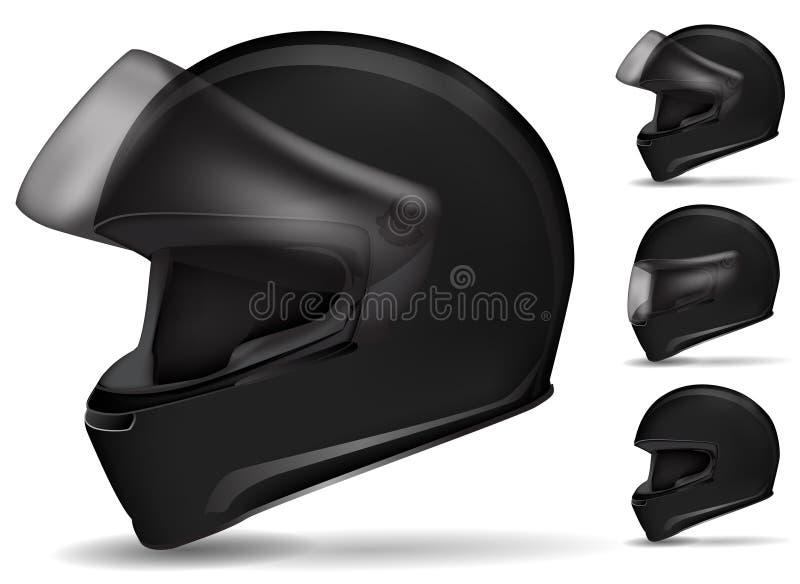 黑色盔甲摩托车 库存例证