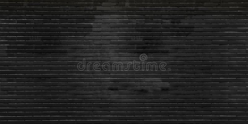 黑色砖墙 免版税库存照片