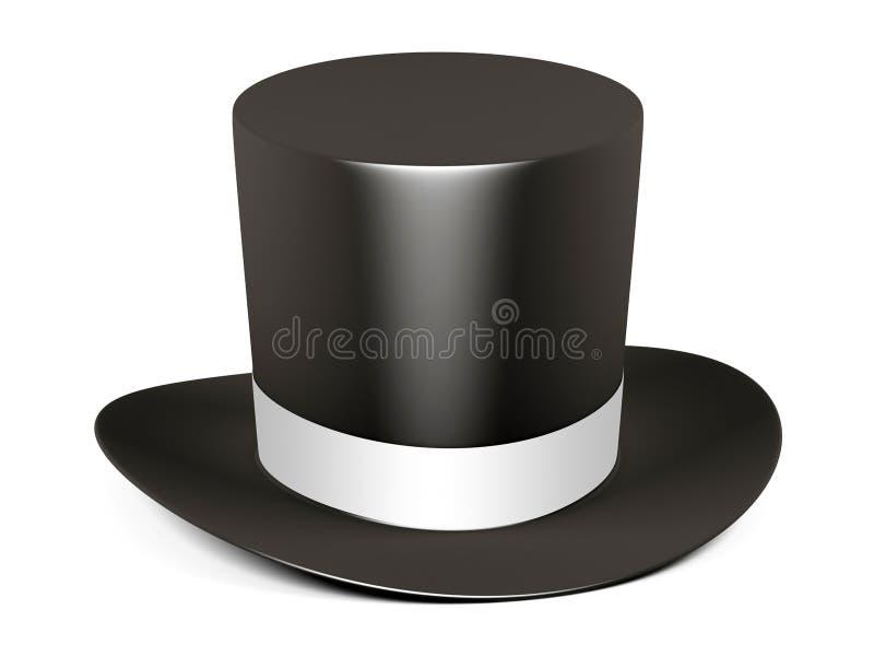 黑色磁道帽子丝带白色 向量例证