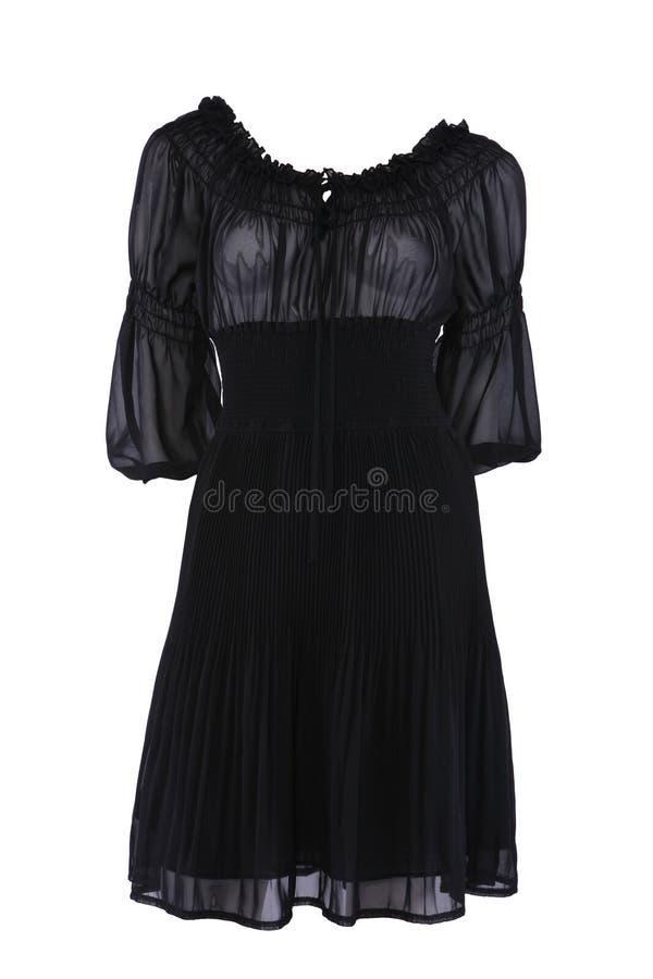 黑色礼服一点 库存图片
