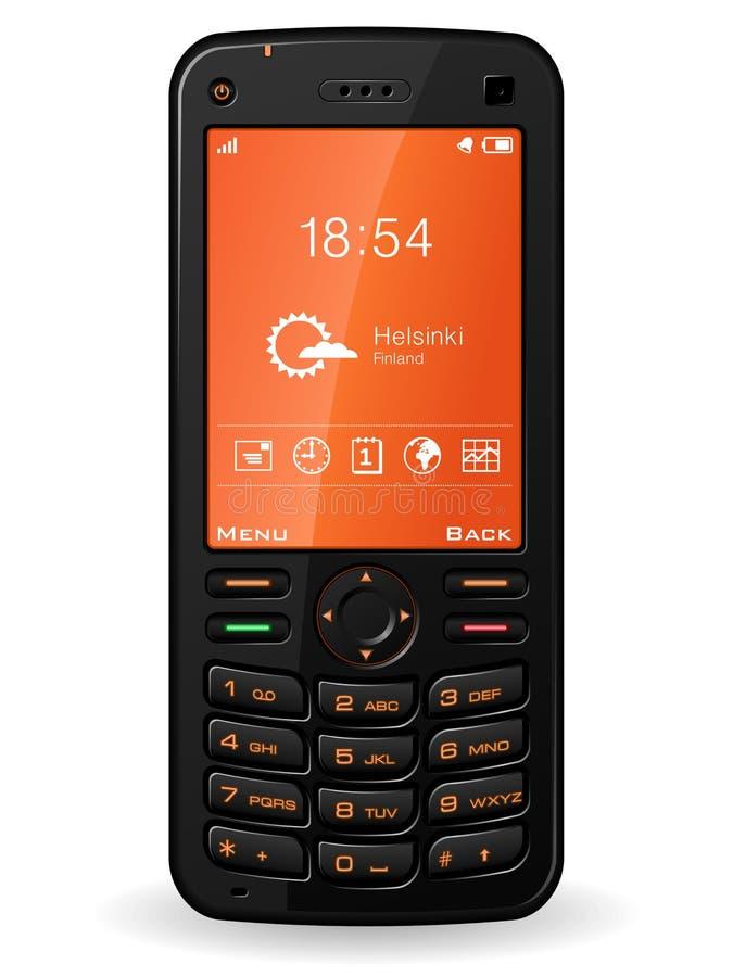 黑色移动电话 向量例证