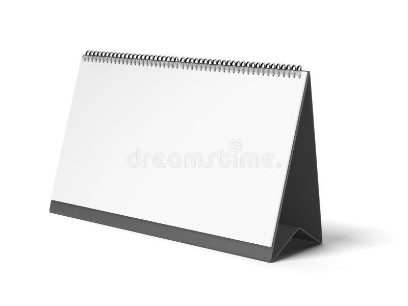 黑色空白日历 库存例证