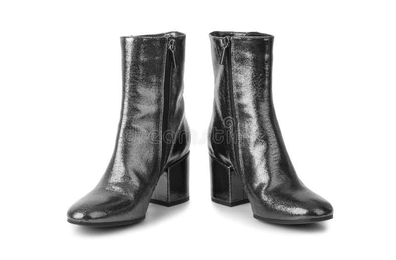 黑色穿上鞋子妇女 免版税库存图片