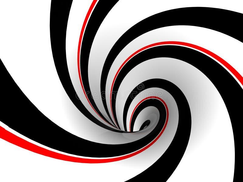 黑色红色减速火箭的漩涡 库存例证