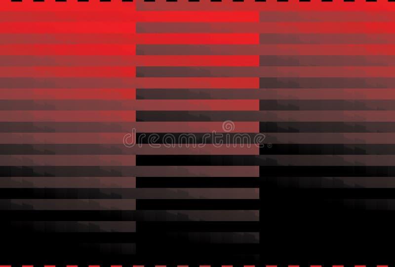 黑色红色数据条 向量例证
