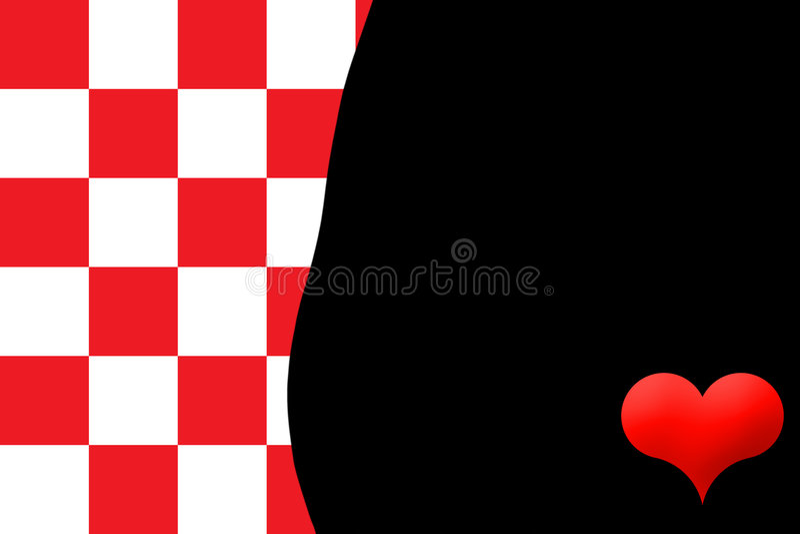 黑色红色白色 库存例证