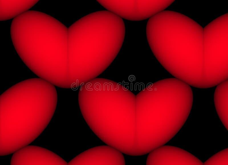 黑色红色 库存例证