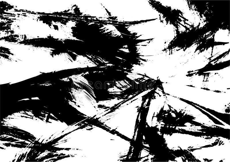 黑色纹理向量 库存例证