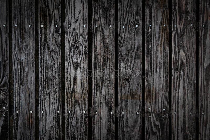 黑色纹理木头 背景老面板 板条,木条地板2 免版税库存图片