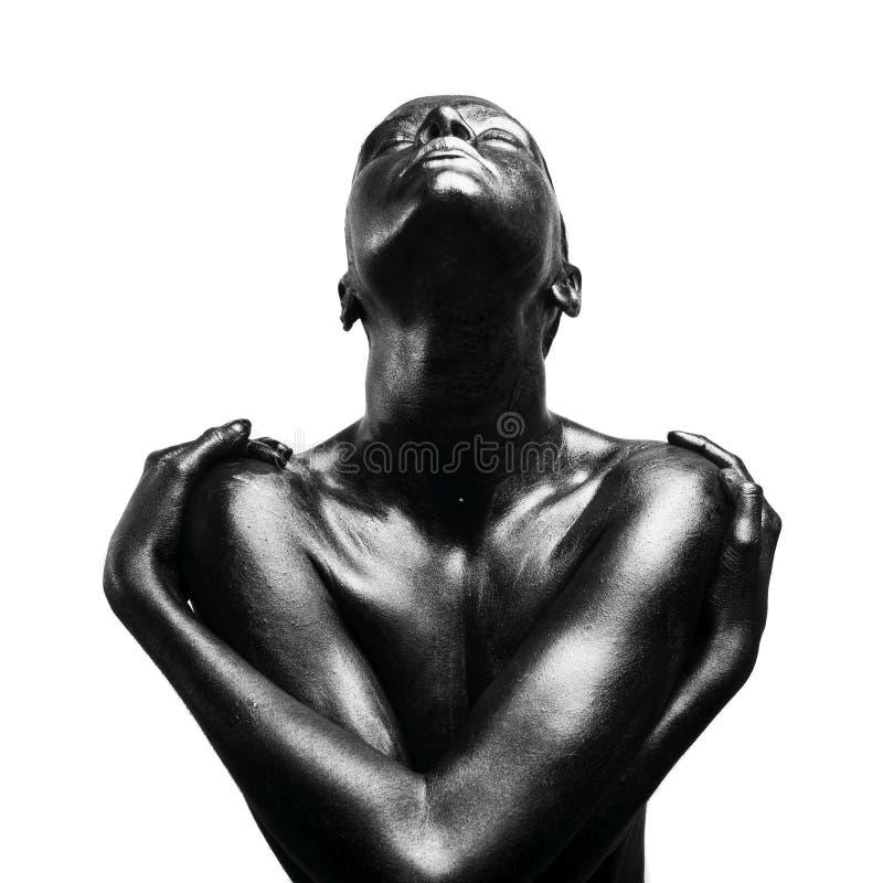 黑色组成妇女 免版税库存图片