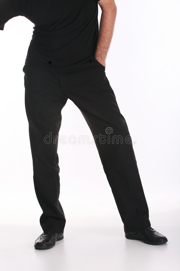黑色绅士isolater白色 免版税库存照片