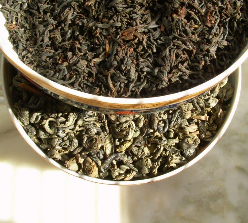 黑色绿茶 免版税库存照片