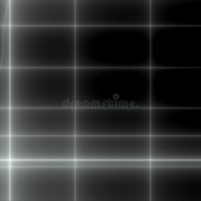黑色网格白色 皇族释放例证