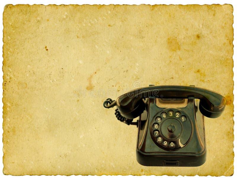 黑色老电话 免版税图库摄影