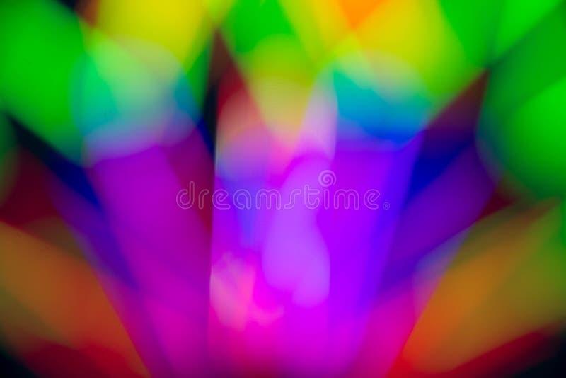 黑色背景上辉光荧光的抽象颜色 库存图片