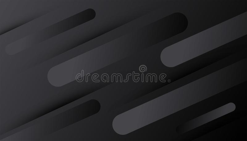 黑色背景 抽象黑暗的梯度装饰构造与线样式 最小的几何3d背景 动态 皇族释放例证