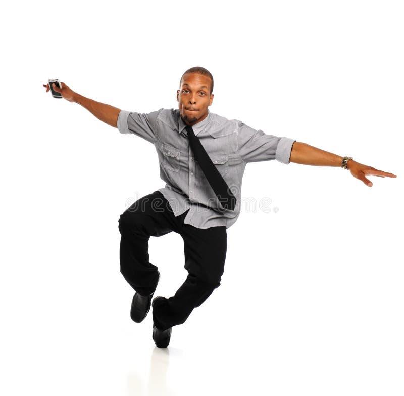 黑色舞蹈演员Hip Hop执行的年轻人 免版税库存照片