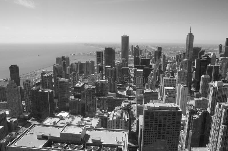 黑色芝加哥白色 免版税库存图片
