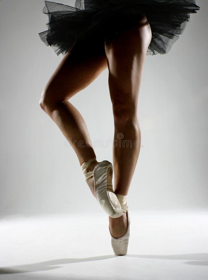 黑色芭蕾舞短裙 库存图片