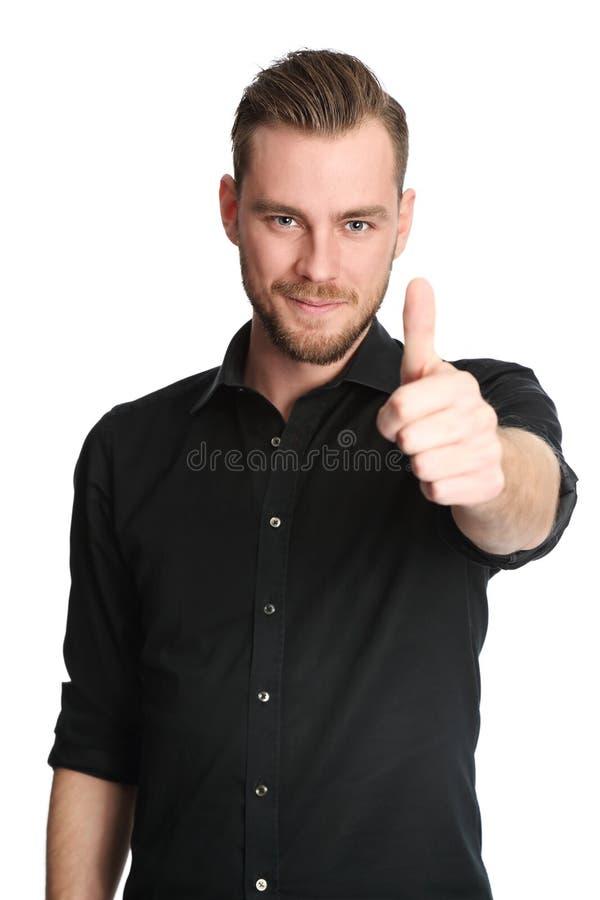 黑色英俊的人衬衣 免版税库存照片