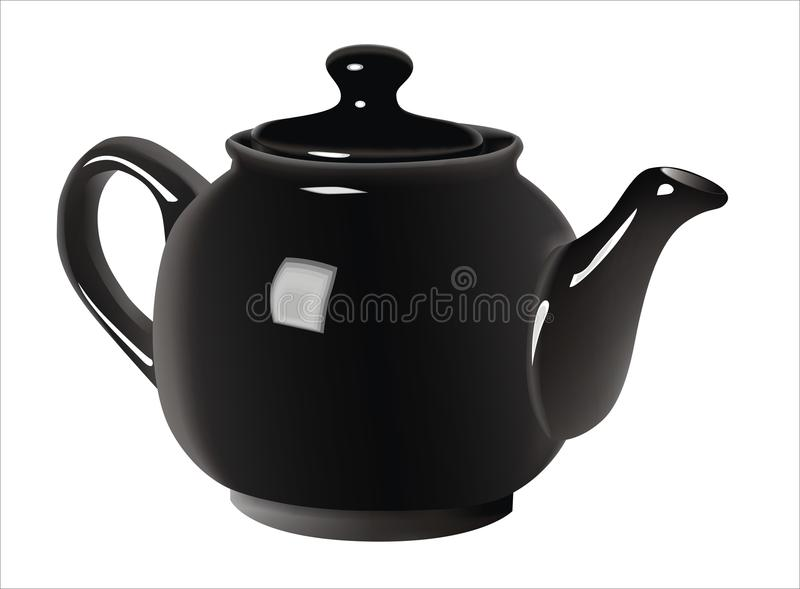 黑色茶壶 免版税图库摄影