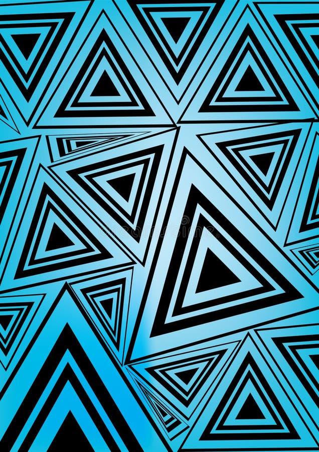 黑色蓝色三角 向量例证