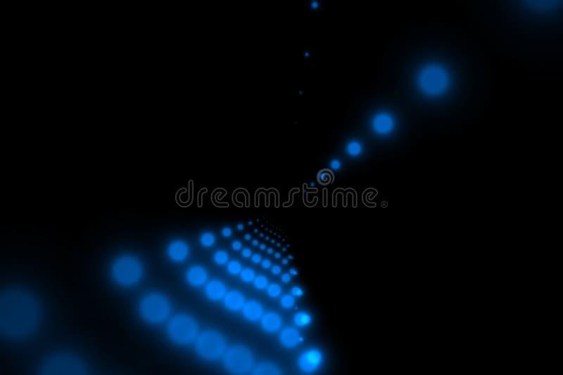 黑色蓝色加点小的向量 免版税库存图片