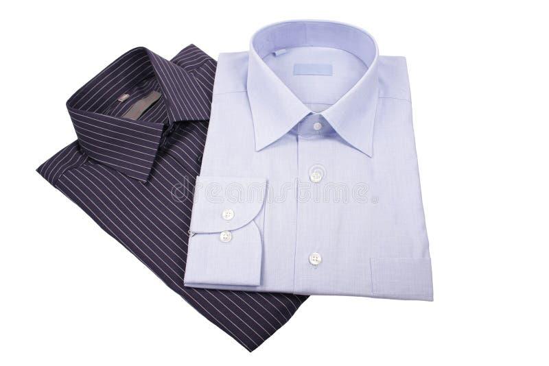 黑色蓝色衬衣 免版税库存照片