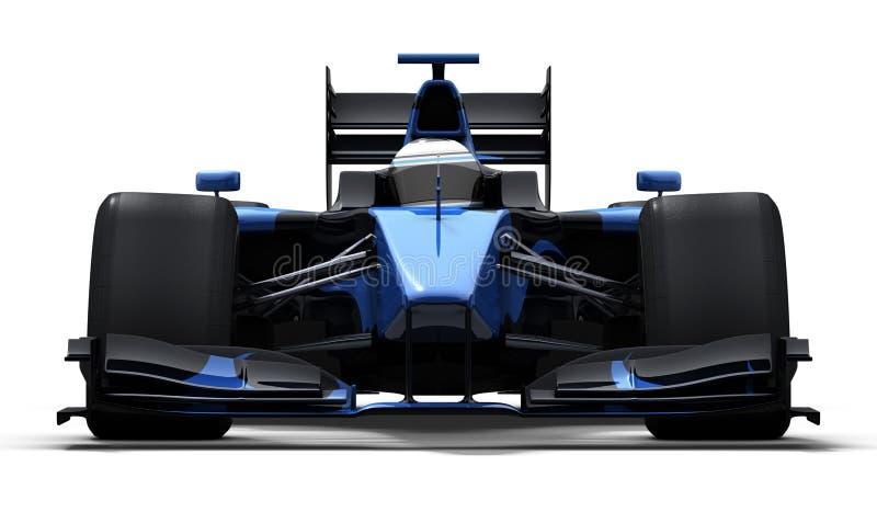 黑色蓝色赛车 皇族释放例证