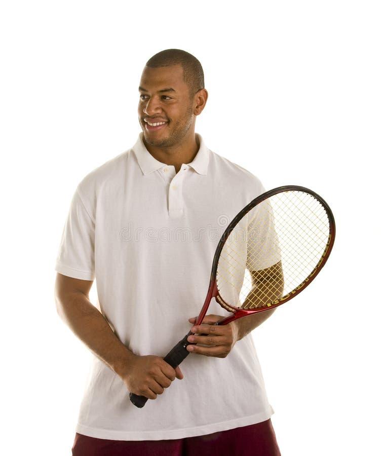 黑色藏品人球拍衬衣网球白色 库存照片
