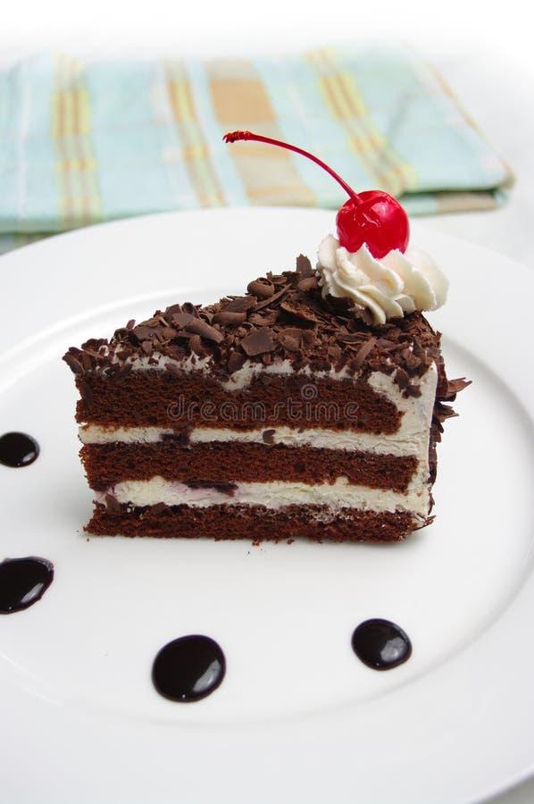 黑色蛋糕森林 免版税图库摄影