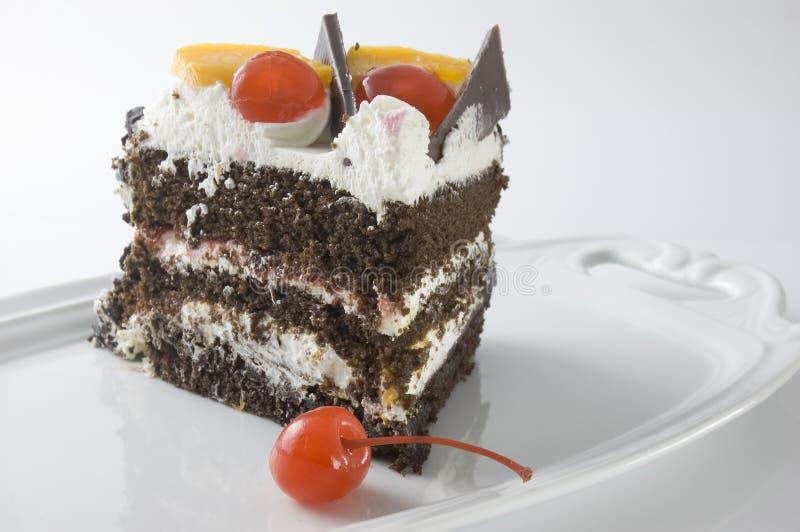黑色蛋糕森林 库存照片