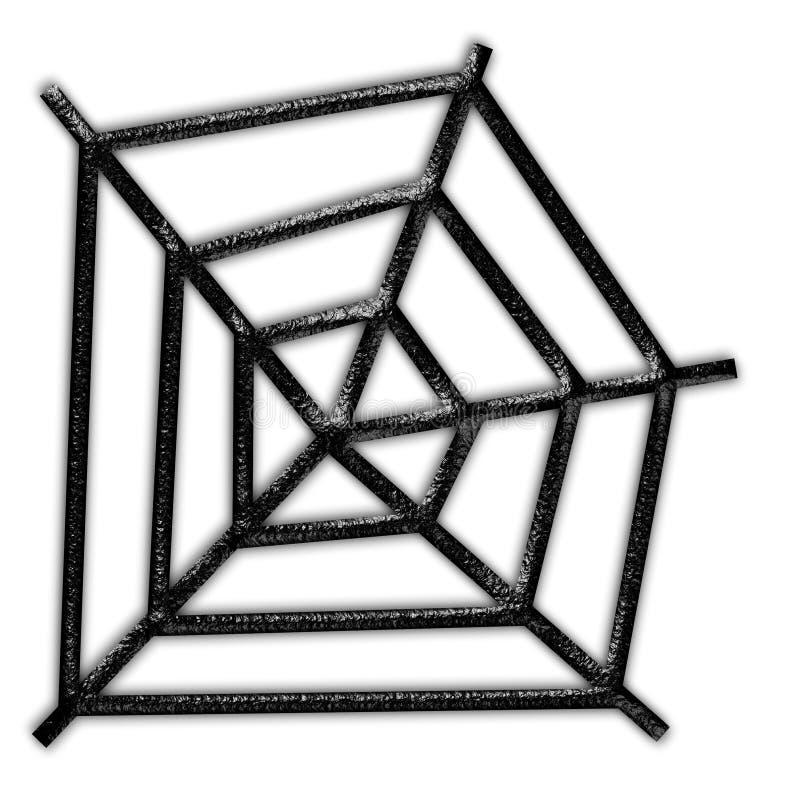 黑色蜘蛛网 库存例证