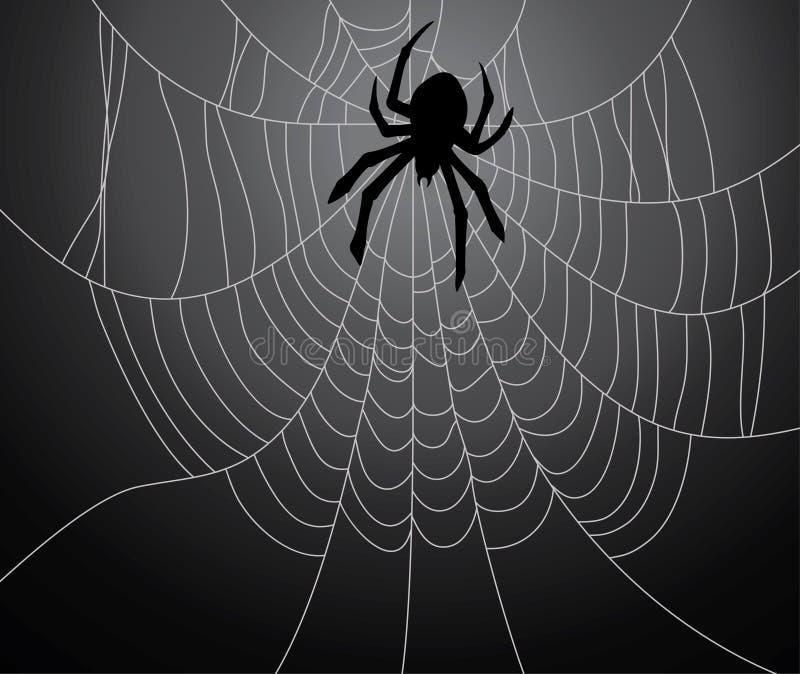 黑色蜘蛛 库存例证