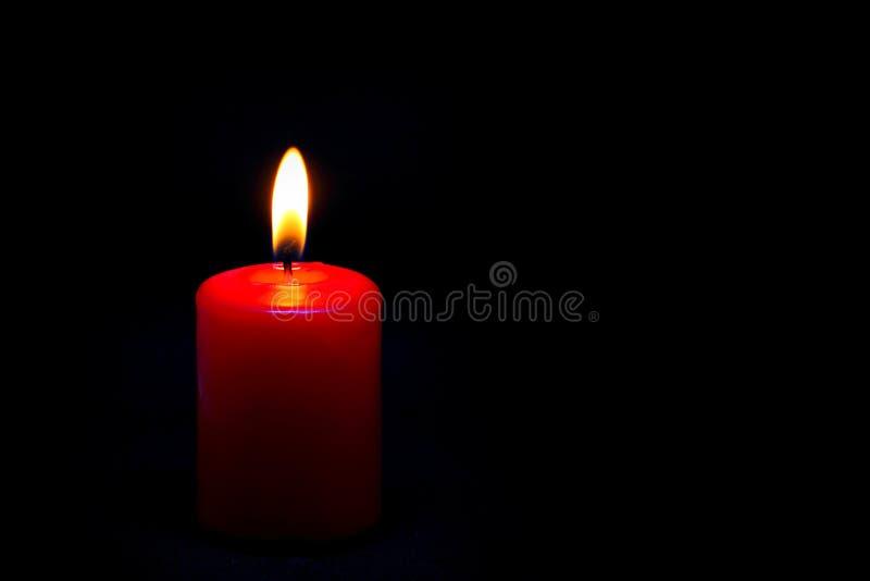 黑色蜡烛红色 库存照片