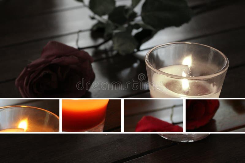 黑色蜡烛 图库摄影