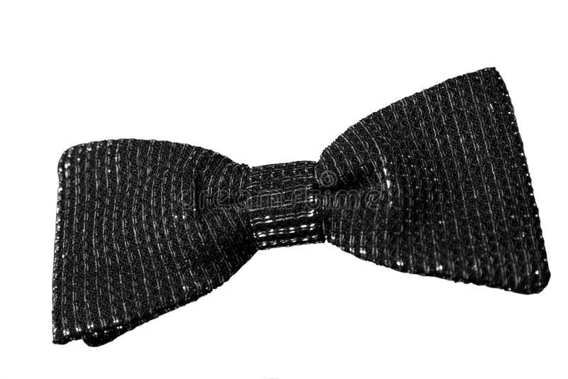 黑色蝶形领结 库存照片