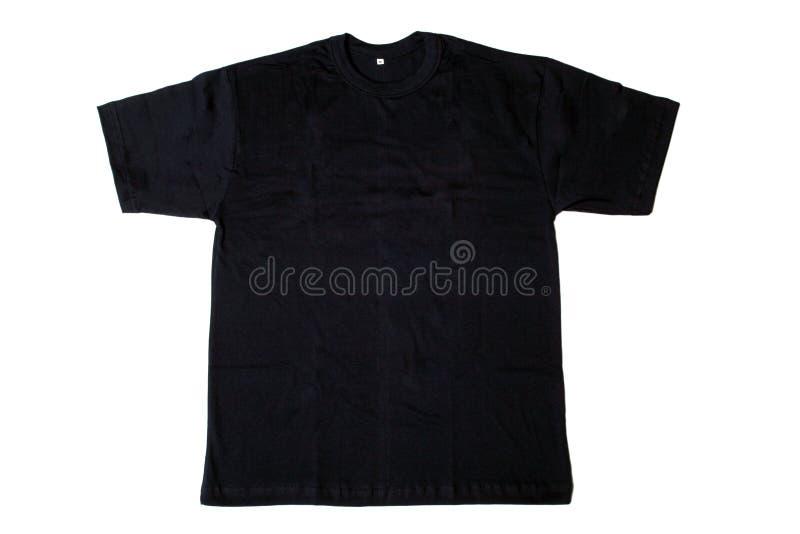 黑色衬衣t 免版税库存图片