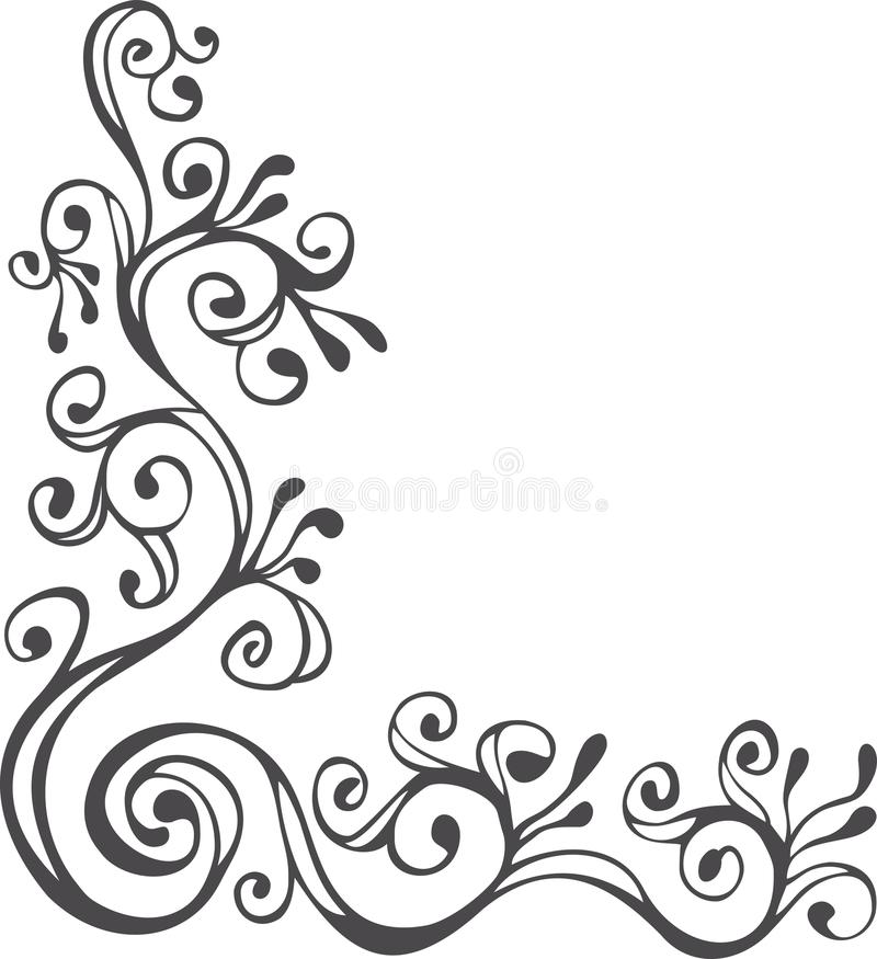 黑色装饰品白色 免版税库存照片