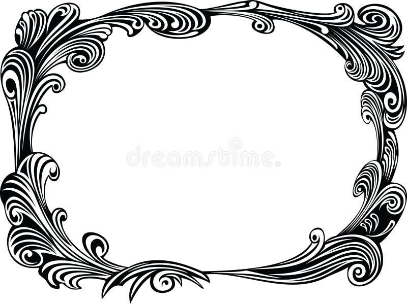 黑色装饰框架 库存例证