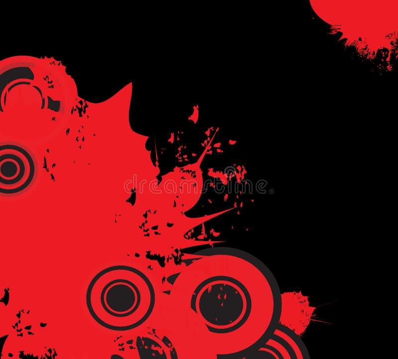 黑色装饰设计grunge红色 库存例证