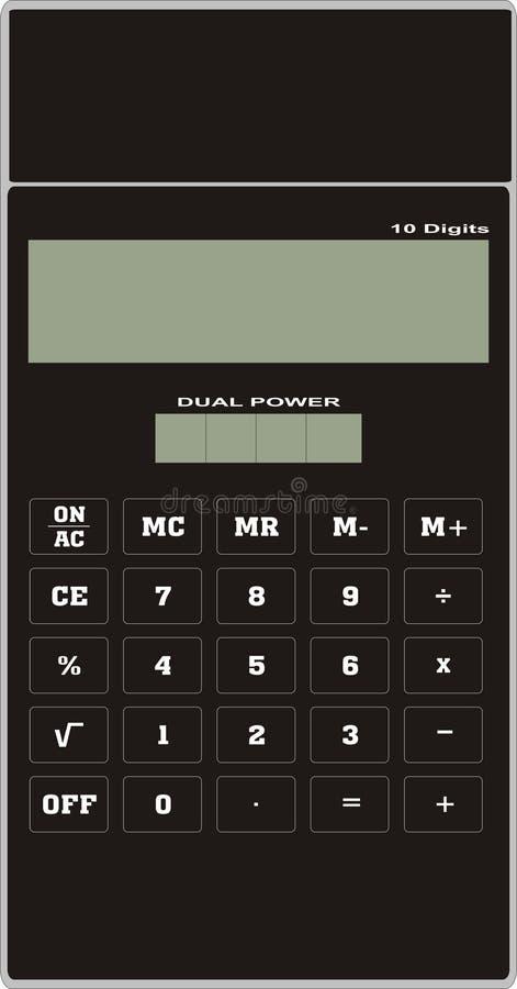 黑色计算器 免版税库存照片
