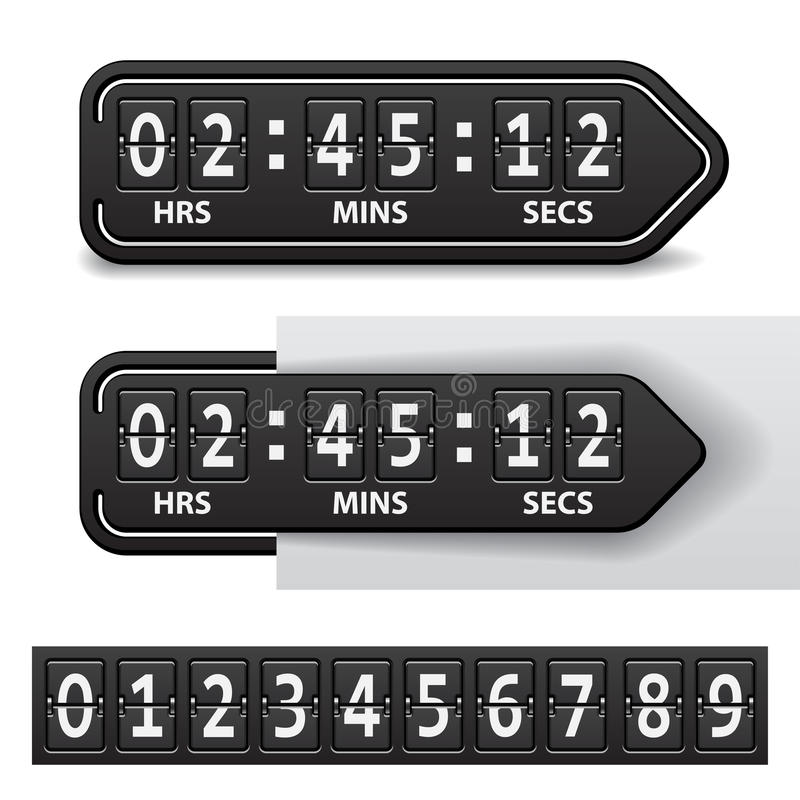黑色读秒机械定时器 皇族释放例证