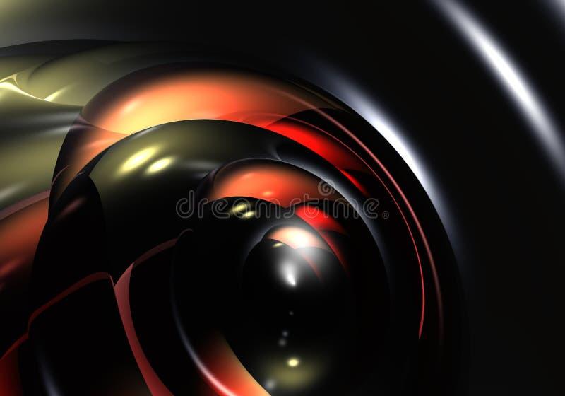 黑色起泡红色 向量例证
