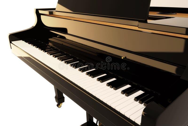 黑色钢琴 皇族释放例证