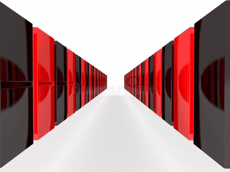 黑色阻拦Domino查出的红色 皇族释放例证