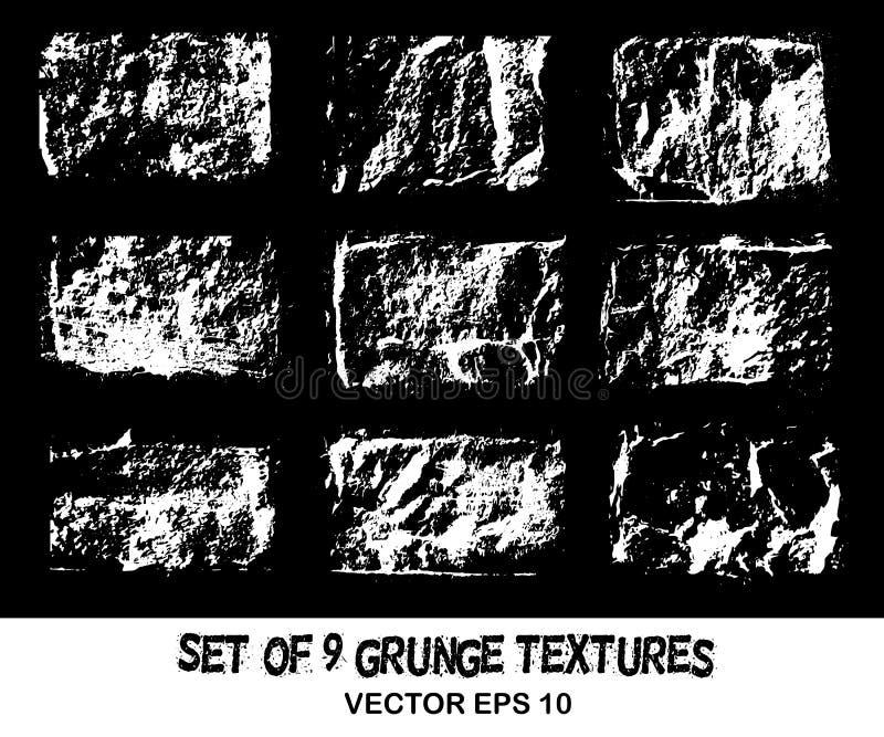 黑色难看的东西背景  纹理和白色硫磺镇压, st 皇族释放例证
