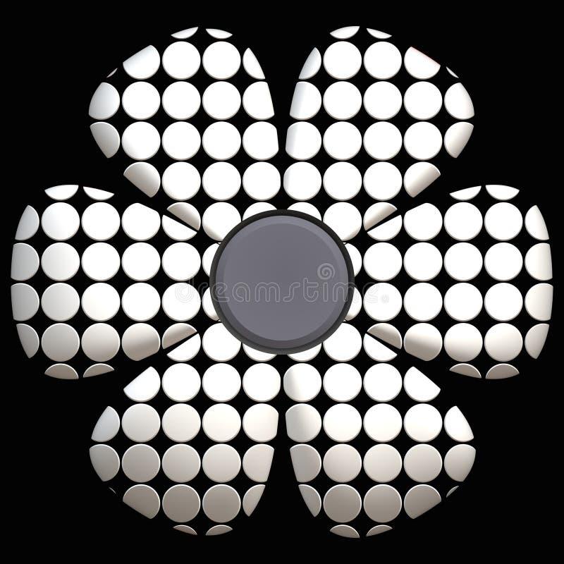 黑色雏菊白色 向量例证